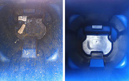 Trash Can Cleaning - Before and After